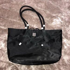 Authentic GIVENCHY Parfum Black PVC Vinyl Tote Bag